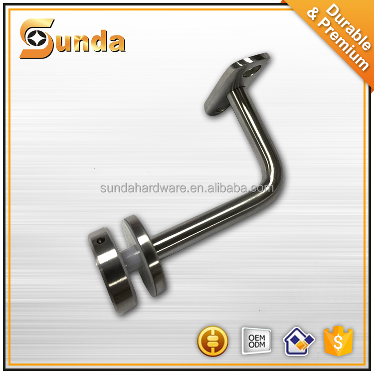 Adjustable Stainless Steel Handrail Support for Round pipe / Stair handrail bracket