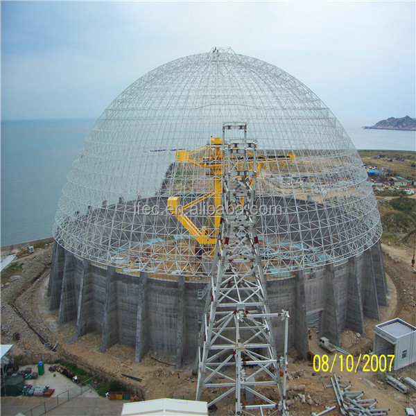 long span insulation good appearance corrugated steel frame dome