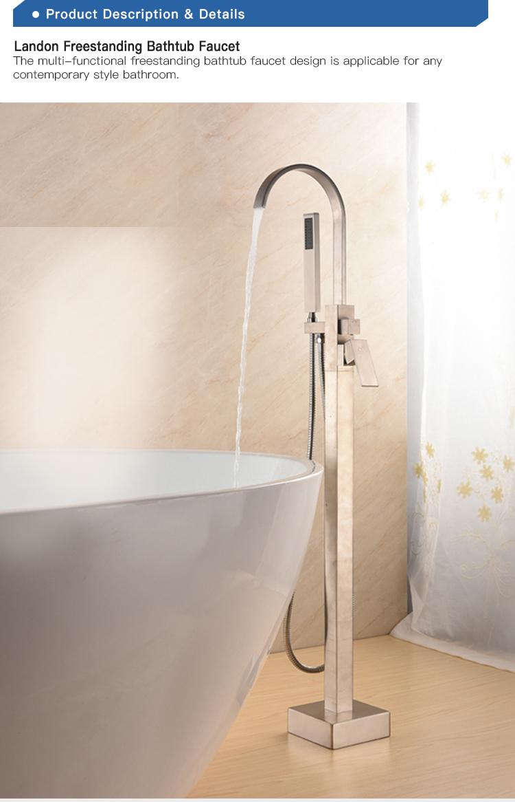 La UPC cUPC aprobación pie baño bañera grifo latón ducha