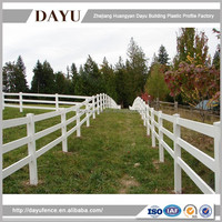 High UV Protection 100% Virgin Vinyl Horse Fence 3-Ranch Rail Cheap Product