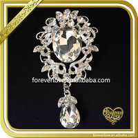 Bling crystal Valentine's Day gift rhinestone brooches and hijab pins bulk for women dresses FB-025