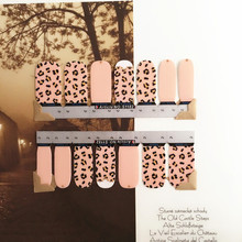 Lovely Pink Dots Nail Arts Sticker 14 pcs set Waterproof Nail Decal Art Sticker Gel Polish