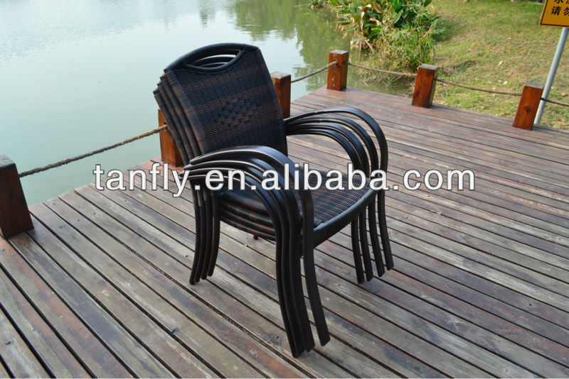 wicker/rattan stackable dining chairs