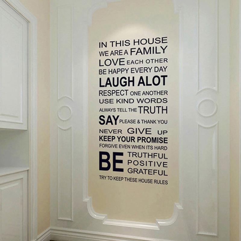 Zitate Motivations Familie Wand Aufkleber Inspirational Wort Wand Aufkleber