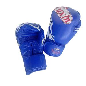 Blue PU mma gloves custom logo twins boxing gloves sparring gears gloves
