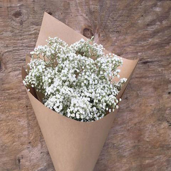 Brown kraft paper Fiore manica babysbreath fiore manica dalla cina competitivo webshop