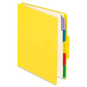 Pendaflex Pendaflex Employee/Personnel Folder - Letter - 8.50quot; Width x 11quot; Length Sheet Size - 2quot; Expansion - 1/3 Tab Cut - Center Tab Location - 5 Dividers - 20 pt. - Yellow - 1 Each
