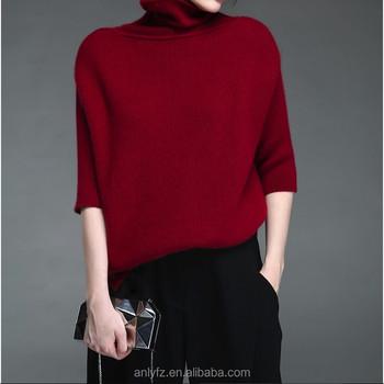 76746673942de free shipping high-neck sweater short style long sleeve warm wool handmade  sweater design for