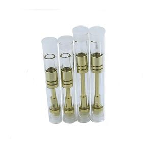 2017 trending dual coil gold glass atomizer cartridge 510 slim  5/ 1ml cbd  oil vape cartridge e-cigarrets