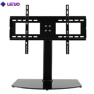 LETUO B64C LED Tabletop Desktop Plasma Glass TV Stand for 55 inch TV