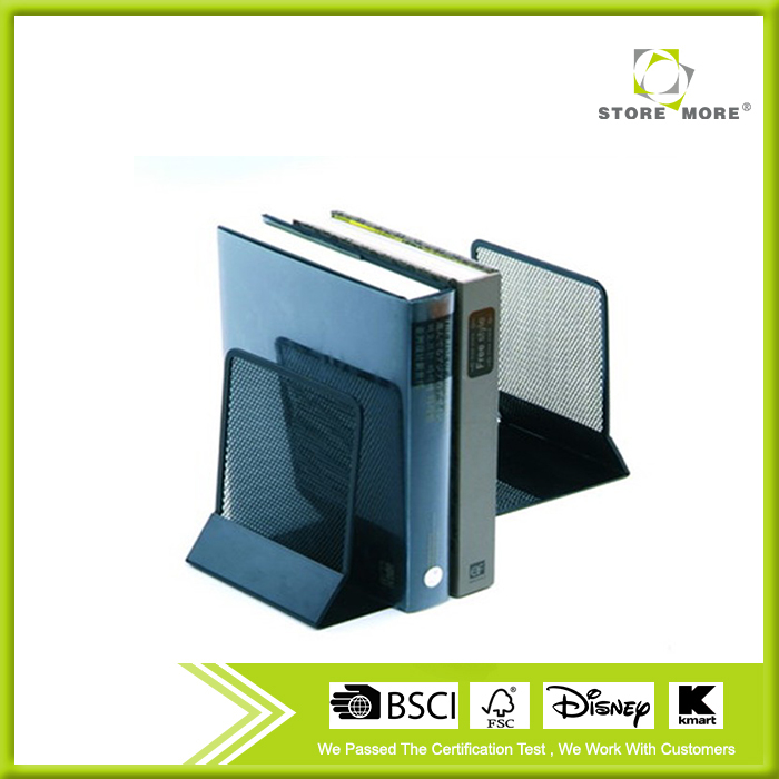 Store More Promotional Durable Metal Mesh Black Bookends
