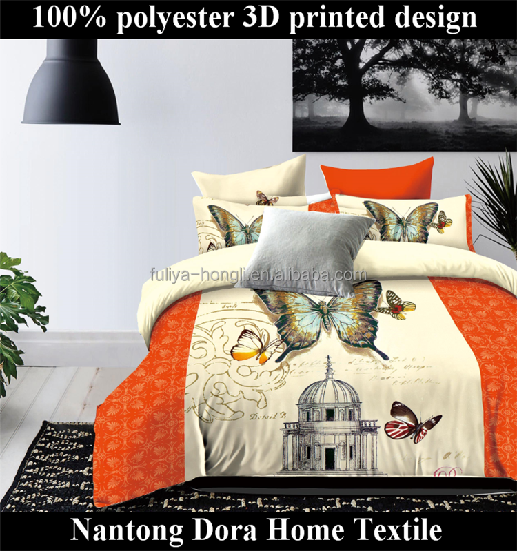 ancient castle Plush Cheap Polyester Flannel Blanket Bedding Set beautiful 3D printed comforter sets bedding