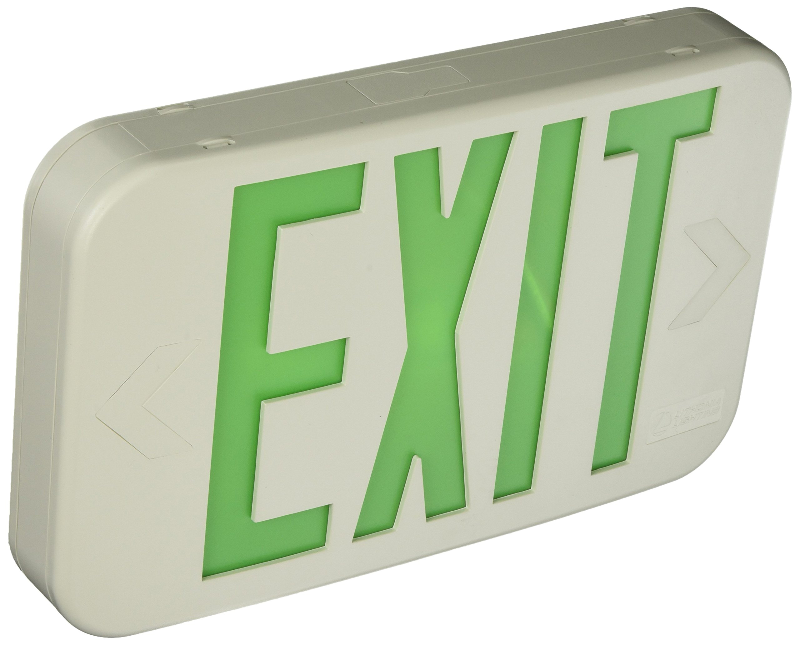 Lithonia Lighting EXG LED M6 Contractor Select Green Thermoplastic LED Exit Sign