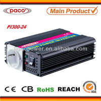 300 watt 24v micro control power inverter for 12v-220v with cooling system