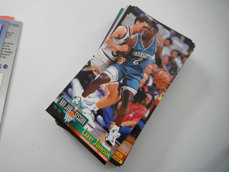 Larry Johnson - 1993 Fleer Jam Session Basketball Card  23 - Charlotte  Hornets   UNLV 11c427fb7