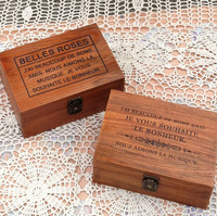 China Factory Rustic Vintage Style Wooden Box For Home Storage