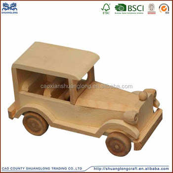 China supplier all kinds of handmade wooden model cars /handmade educational toy