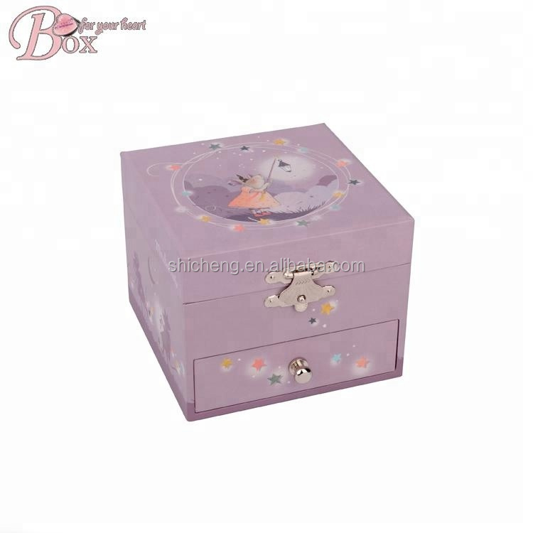 Shicheng 새 Product 종이 Custom Ballerina Music Box 손 크랭크 music box
