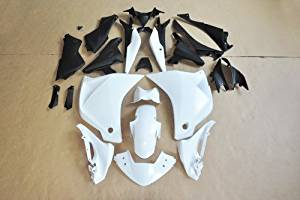 Wotefusi Brand New Motorcycle ABS Plastic Unpainted Polished Needed Injection Mold Bodywork Fairing Kit Set For Honda CBR250 2011 White Base Color