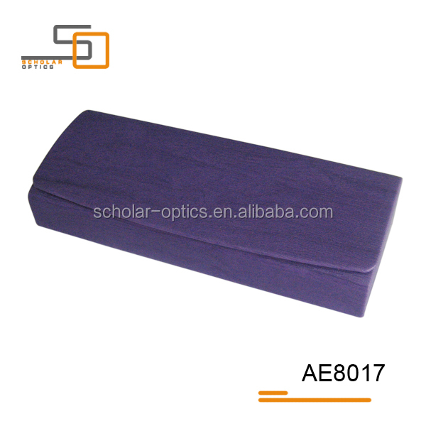 Purple cheap fancy hot sell PU leather hand made glasses case