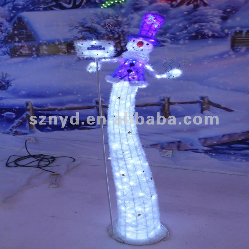 Funny Led Snowman For Outdoor Christmas