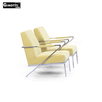 Yellow accent living room chair with arms