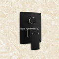 Factory Direct Solid Brass Luxury Wall Mount Diverter Mixer Tap Bath SPA Spout Black Square Shower