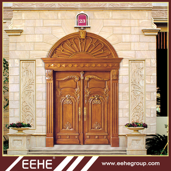 Used Wood Exterior Doors Flush Double Leaf Wooden Door Price Buy