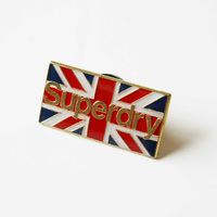 Wholesale Custom Soft Enamel National Flag Shape Button Metal Badge with Safety Pin for Promotion