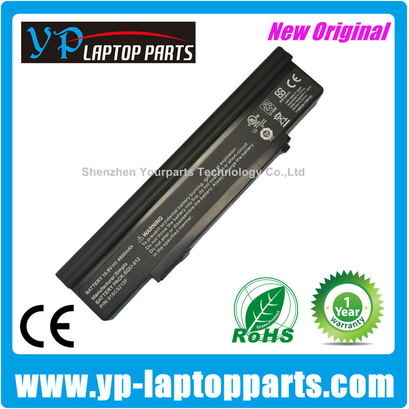 Original Laptop Battery For NEC SQU-512 ,Versa E6200 Battery Packard Bell Easynote GN25 GN45 3UR18650F-2-QC-CH2 Li-ion Battery