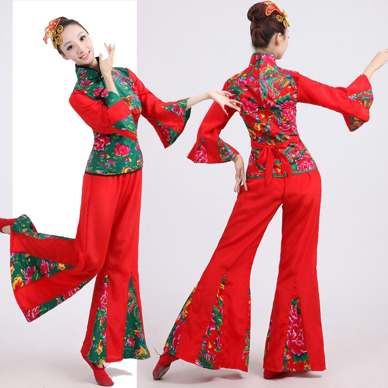 a9e34a0a9 2019 Show Dress Drum Yangko Dance Costumes Traditional Chinese Folk ...