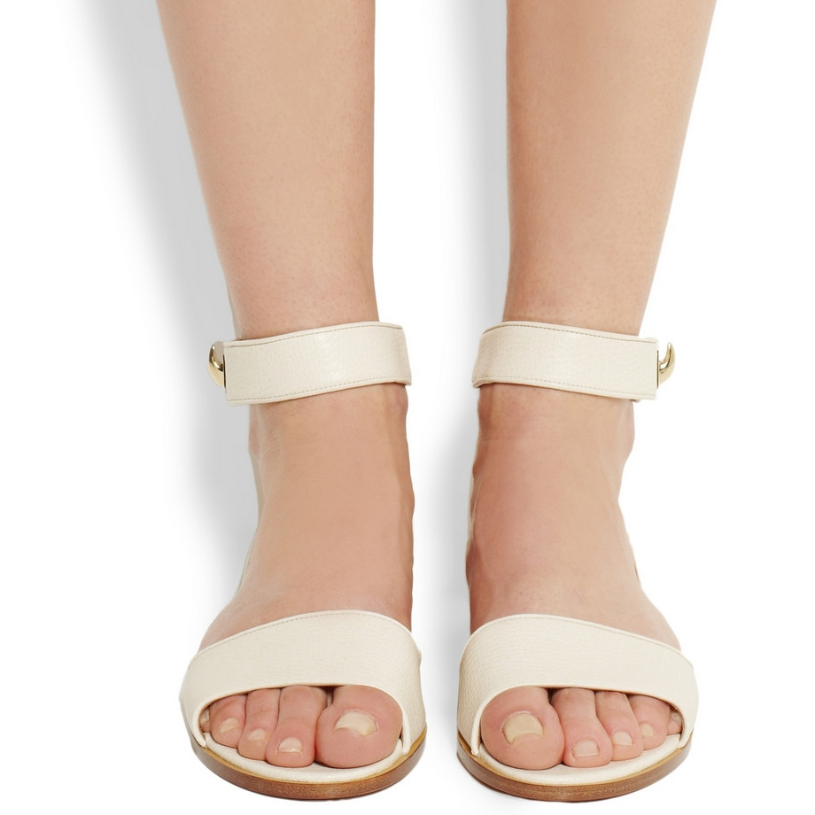 Get Quotations · Ivory Open Toe Soft Leather Flat Sandals Women Shoes One  Strap Ladies Shoes Sandals Summer Sandal f11025c012