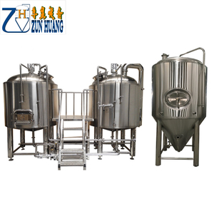 300L malt crushing mash mixing system and fermentation system for sale