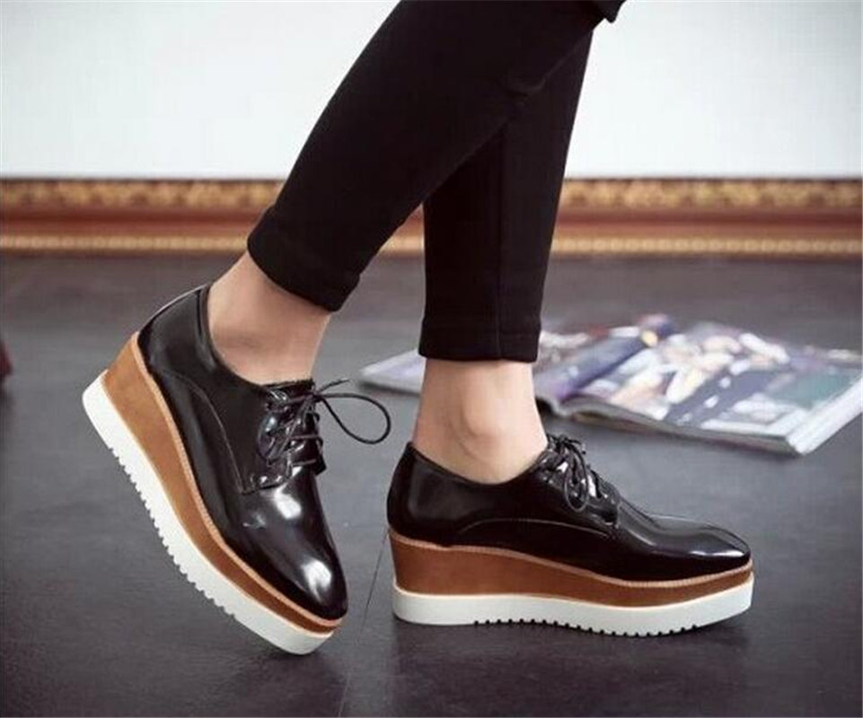 c3b00a5eebd9 Mujer Oxford Plataforma Zapatos zapatos Para Sapato 2016 b76yfg