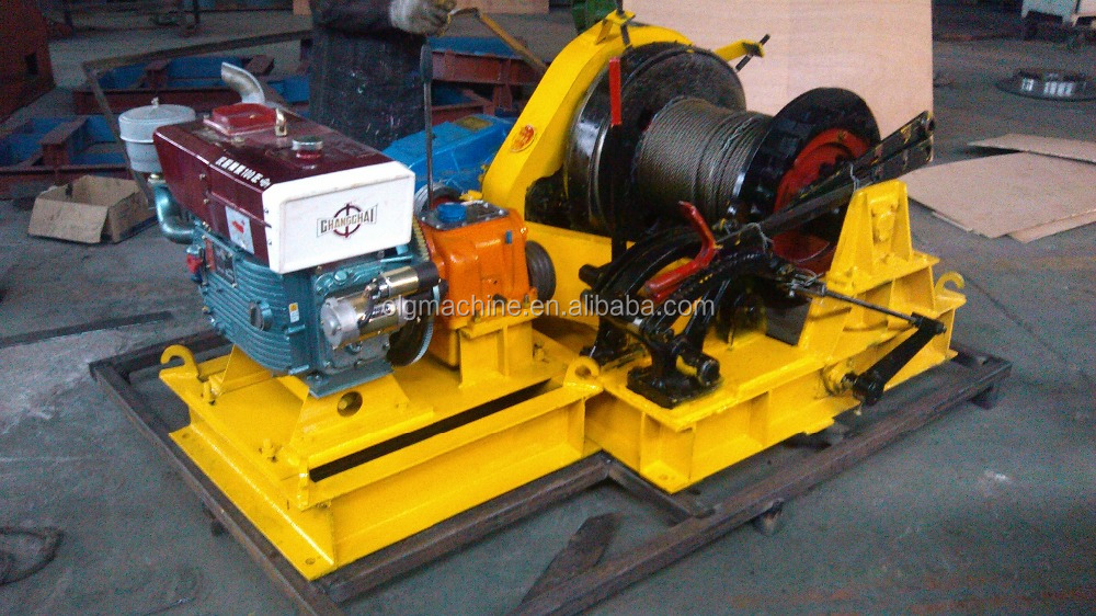 5ton Diesel Engine Driven Fast Free Fall Winch for Piling Operation