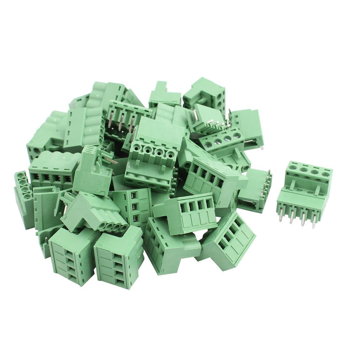 uxcell 27Pairs AC 300V 10A 4 Terminal 5.08mm Spacing PCB Screw Terminal Block Connector