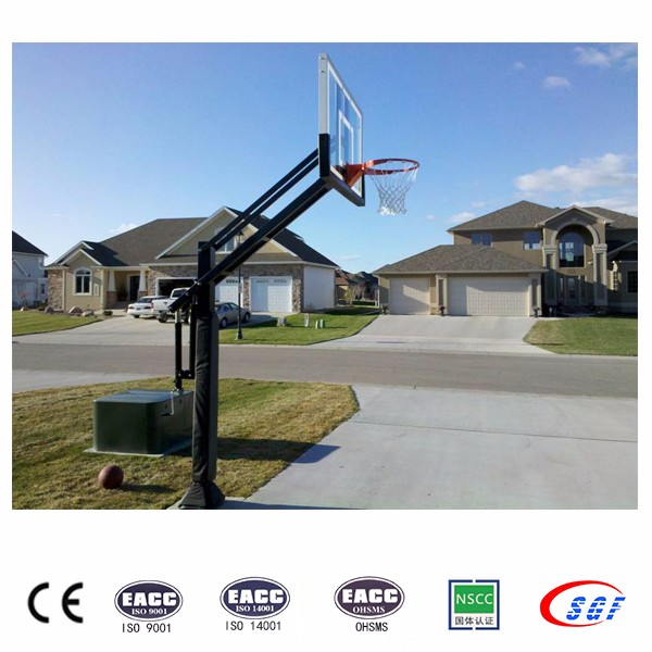 In ground 2.45 - 3.05m goal height outdoor basket ball stand basketball hoop for sale
