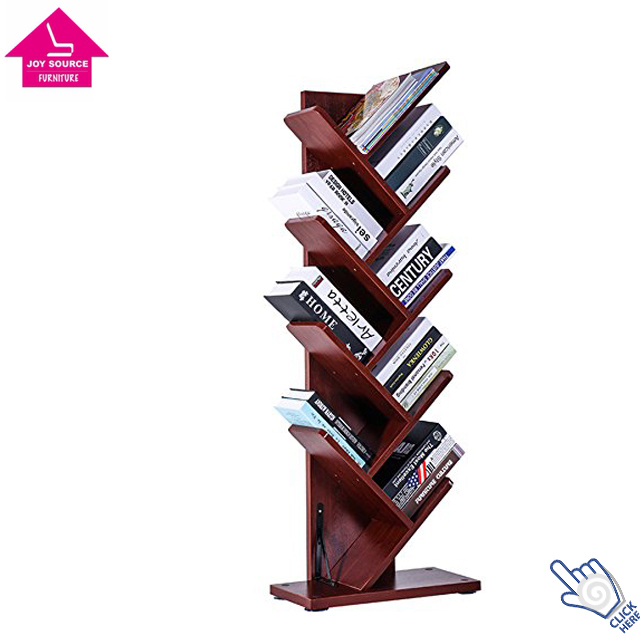 JS-BC020 Wooden 9-shelf Tree Shaped Bookshelf