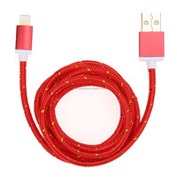 Colorful 8 pin USB Camouflage Braided Wire Data Sync Charging Charger Cable for iPhone 5 5s 6 6 plus 7 7plus