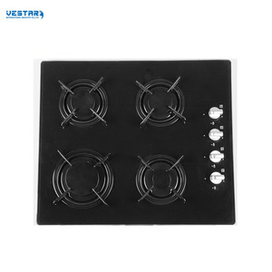 Easily cleaned gas cooker hob for kitchen