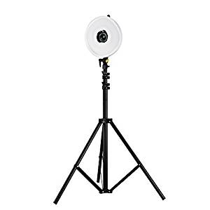 Camera Photo LED Ring Light Kit for Video,Portrait and Photography Lighting,Includes 300 PCS LED SMD Dimmable Ring Video Light+ Aluminum Alloy Light Stand