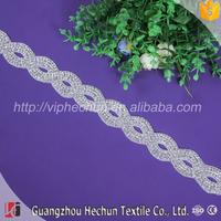 HC-9847 Hechun Wholesale chain diamond ribbon rhinestone belts