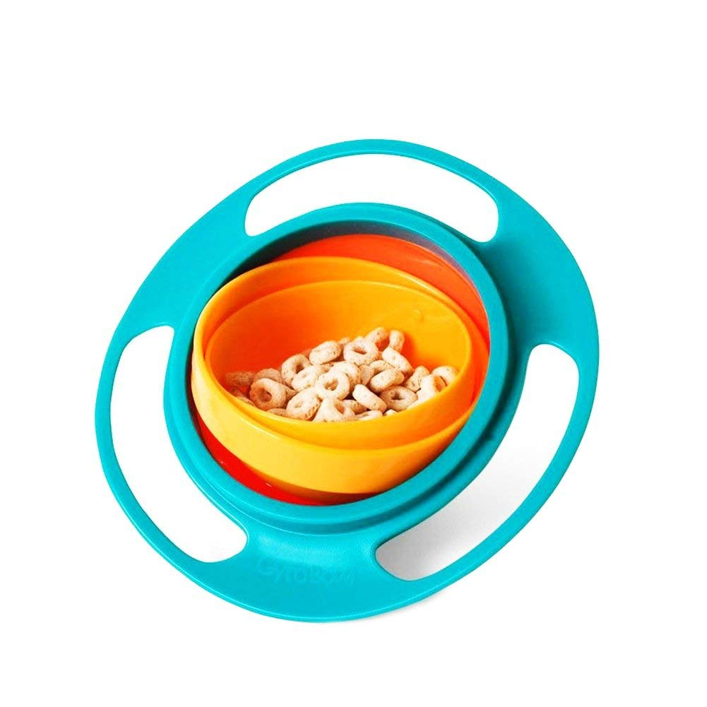 75d98fc99e3 Get Quotations · Baby Bowl Children Tableware Non Spill Bowl Toy Dishes  Universal 360 Rotate Avoid Food Spilling Food