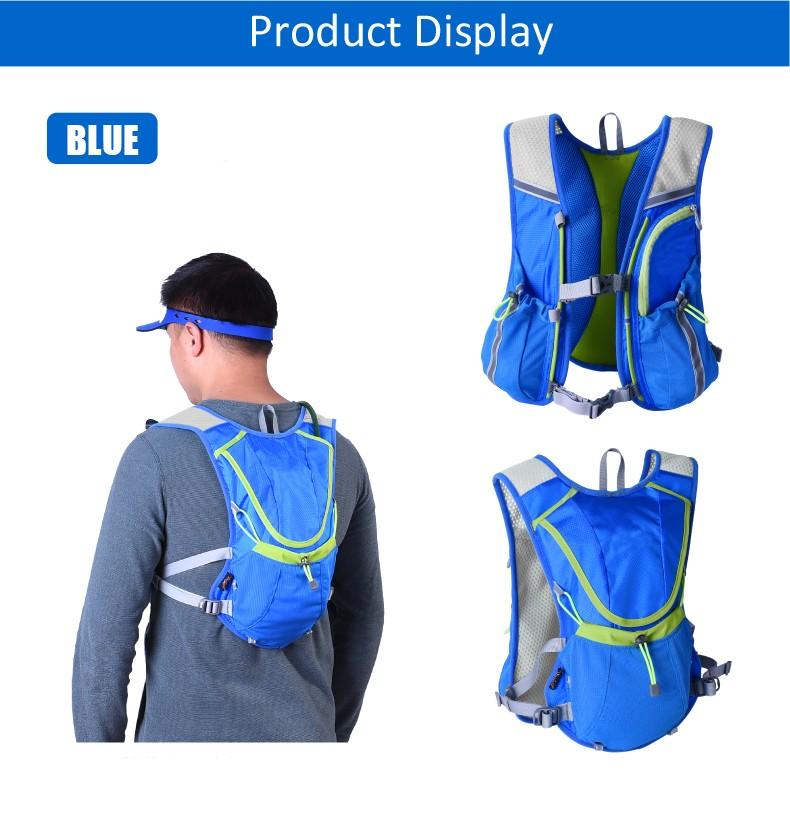 Light Blue Hydration Pack Bladder Backpack Water Bag Hiking Camel Rucksack Cycling