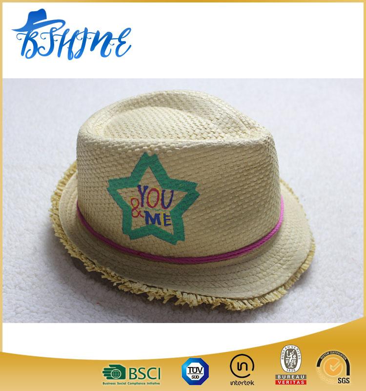 Chapéu Fedora Chapéu De Palha Criança Com Padrão De Estrela - Buy ... 081122d07a0