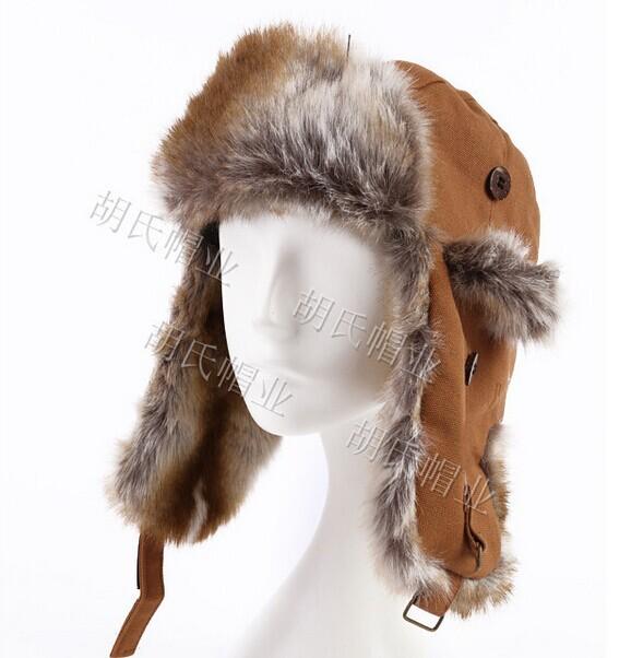 Get Quotations · women men faux fur lining trooper trapper snowboard  russian earflap bomber aviator winter beanie warm hats 15e6370f50cf