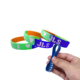 factory price tie dye silicone rubber wristband bracelet band free design