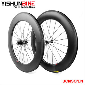 New 2017 YISHUNBIKE OEM 88mm Carbon Wheels Clincher Bike 80mm High-profile 350S-880C