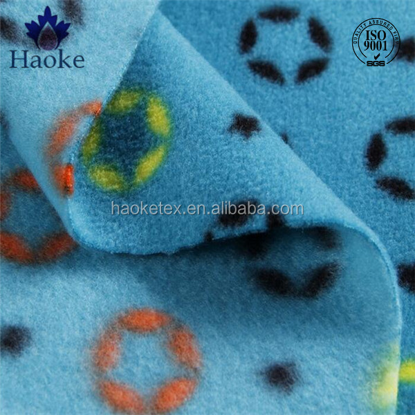 FDY anti pilling printed polar fleece / soft plush toy fabric / micro fleece material