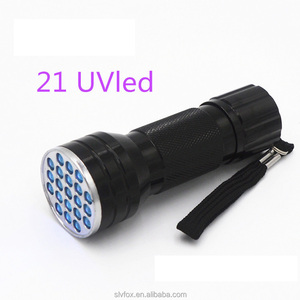 21 LED black light uv flashlight urine detector led purple light uv flashlight 365nm 385nm 395nm